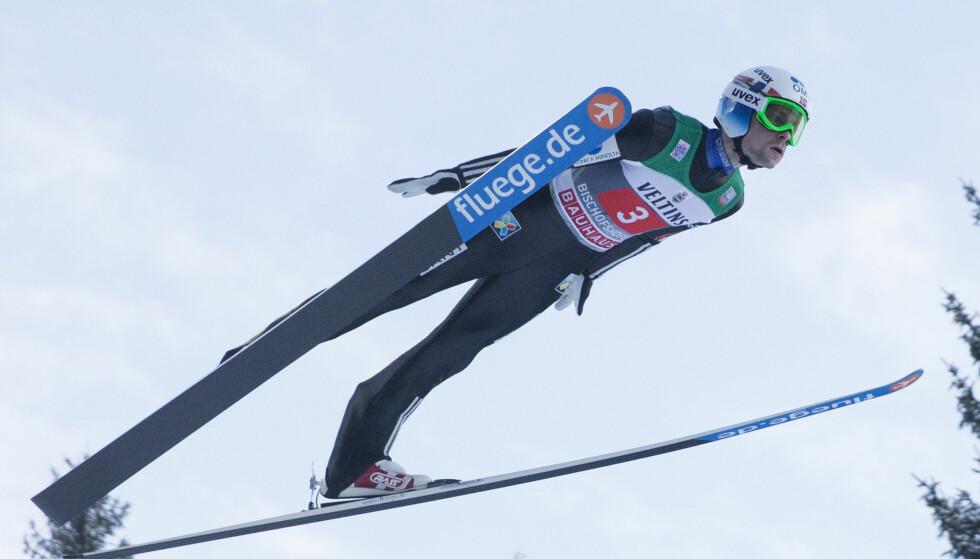 SKIHOPPER: Anders Jacobsen har alltid likt å utfordre tyngdekraften sier pappa Arne i et intervju med Se og Hør. Foto: NTB scanpix