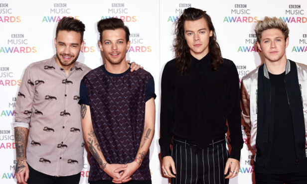 STJERNEGRUPPE: Liam Payne, Louis Tomlinson, Harry Styles and Niall Horan i gruppen «One Direction». Foto: NTB Scanpix