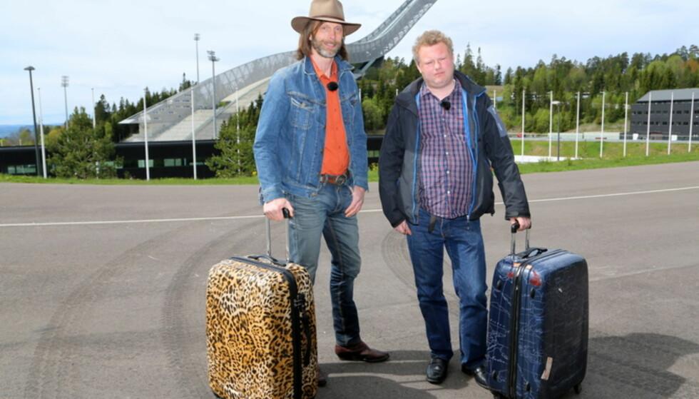I OSLO: Ola-Conny Wallgren og Morgan Karlsson under innspillingen av Morgan og Ola-Conny opplever Norge. Foto: TVNorge