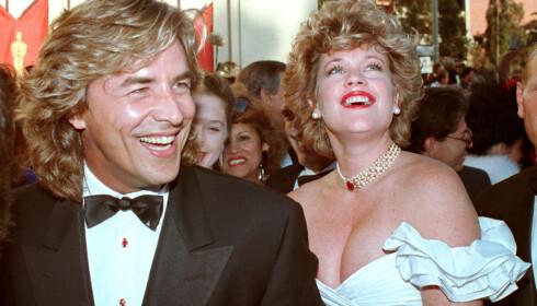 PÅ RØD LØPER: Don Johnson og Melanie Griffith var et av Hollywoods heteste på par på 80- og 90-tallet. Foto: NTB Scanpix