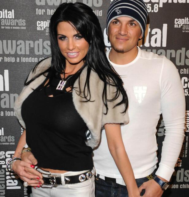EKS-KONA: Peter Andre var gift med Katie Price, som den gang gikk under glamournavnet Jordan, fra 2005 til 2009. Foto: NTB Scanpix.