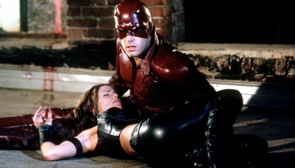 <strong>BEGYNNELSEN:</strong> Ben Afflcek spilte Matt Murdock og Jennifer Garner spilte Elektra Natchios i Daredevil, filmen de falt for hverandre i 2003. Foto: NTB Scanpix