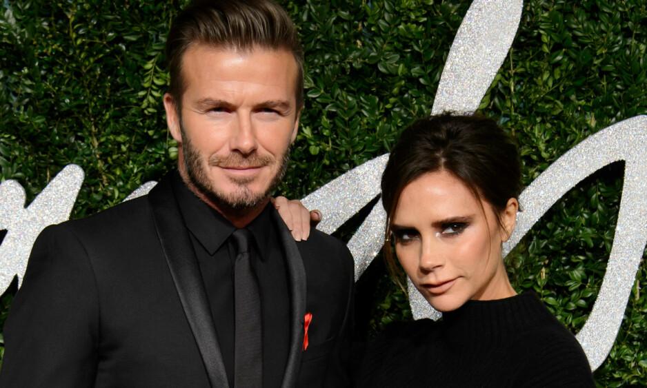 VISTE KJÆRLIGHET: David Beckham delte en søt kjærlighetserklæring da kona gjennom snart 19 år hadde bursdag. Foto: NTB scanpix