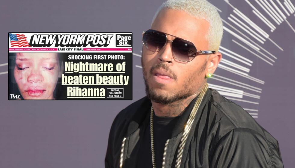 DRAMATISK ANGREP: Chris Brown ble dømt for å ha mishandlet Rihanna på vei til Grammy-festen i 2009. Foto: All Over Press/TMZ