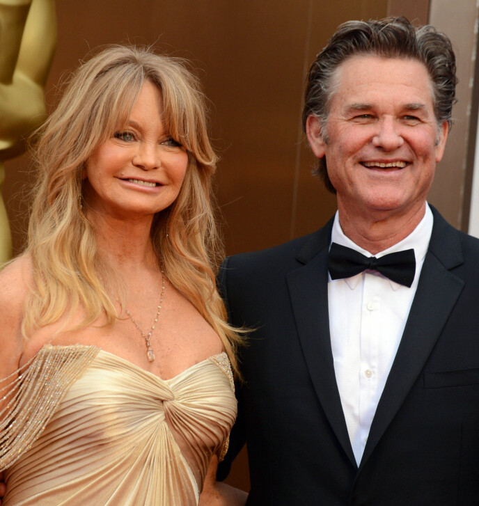 EKTEPAR: Skuespillerparet Goldie Hawn og Kurt Russell har holdt sammen i 38 år. Her avbildet i 2014. Foto: Jordan Strauss / Invision / AP/ NTB