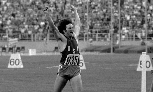 GULLGUTT: I boken om sitt eget liv skriver Jenner blant annet om den triumferende OL-seieren i Montreal i 1976, der han vant gull. Foto: AP, NTB Scanpix