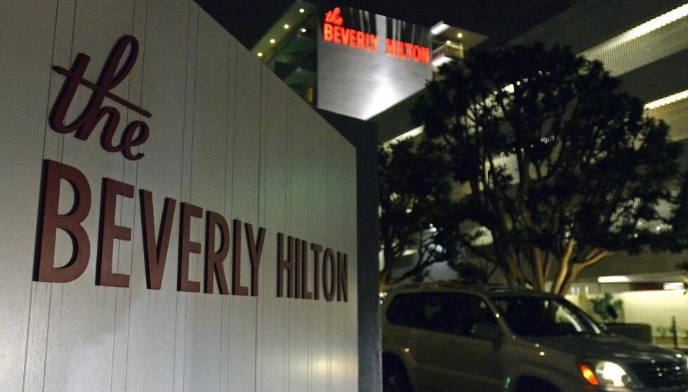 <strong>HOTELLET:</strong> Det var på dette hotellet Whitney Houston ble funnet død. Foto: NTB scanpix