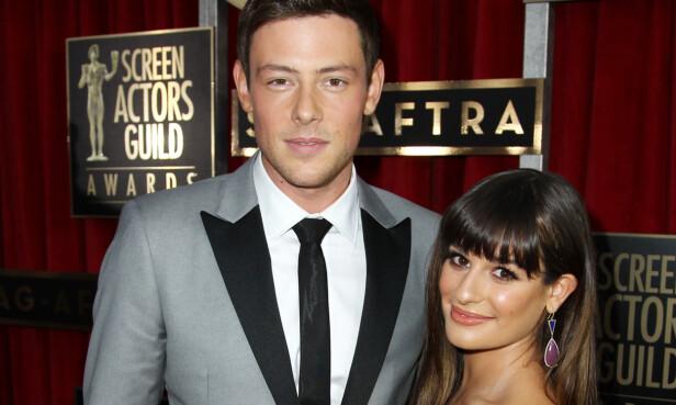 MISTET KJÆRESTEN: Fra 2011 til 2013 var Lea Michele kjæreste med Glee-kollegaen, Cory Monteith, som døde for snart fire år siden. Foto: NTB Scanpix.