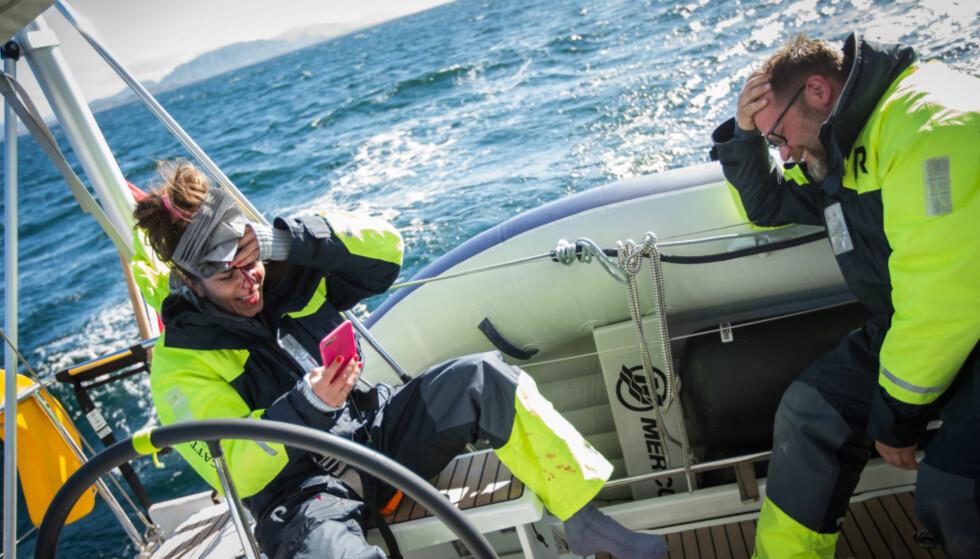 SLAPP UNNA MED SKREKKEN: Kristin Gjelsvik fikk god hjelp av crewet på dekk etter ulykken. Foto: Helene Michaelsen