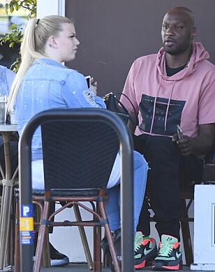 NY KJÆRESTE: Lamar Odom skal angivelig ha funnet lykken på ny. Her er de avbildet sammen i mars. Foto: NTB scanpix