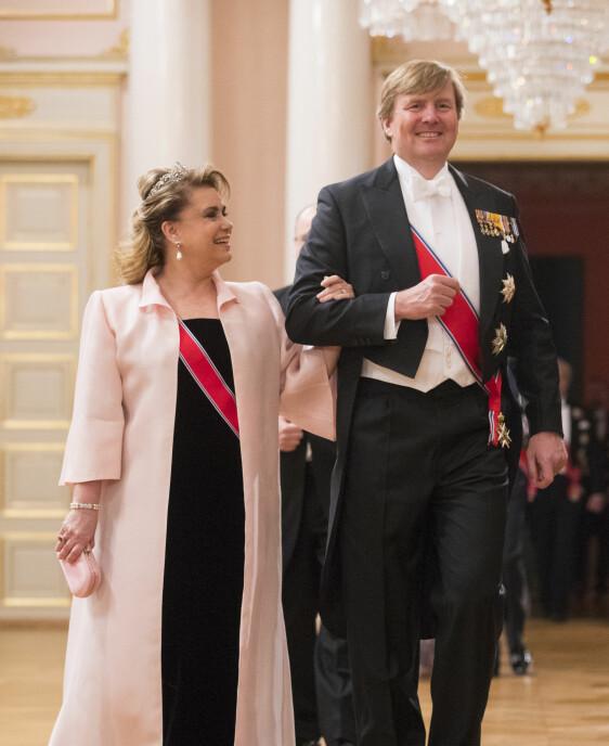 Kong Willem-Alexander av Nederland og storhertuginne Maria-Teresa av Luxembourg.