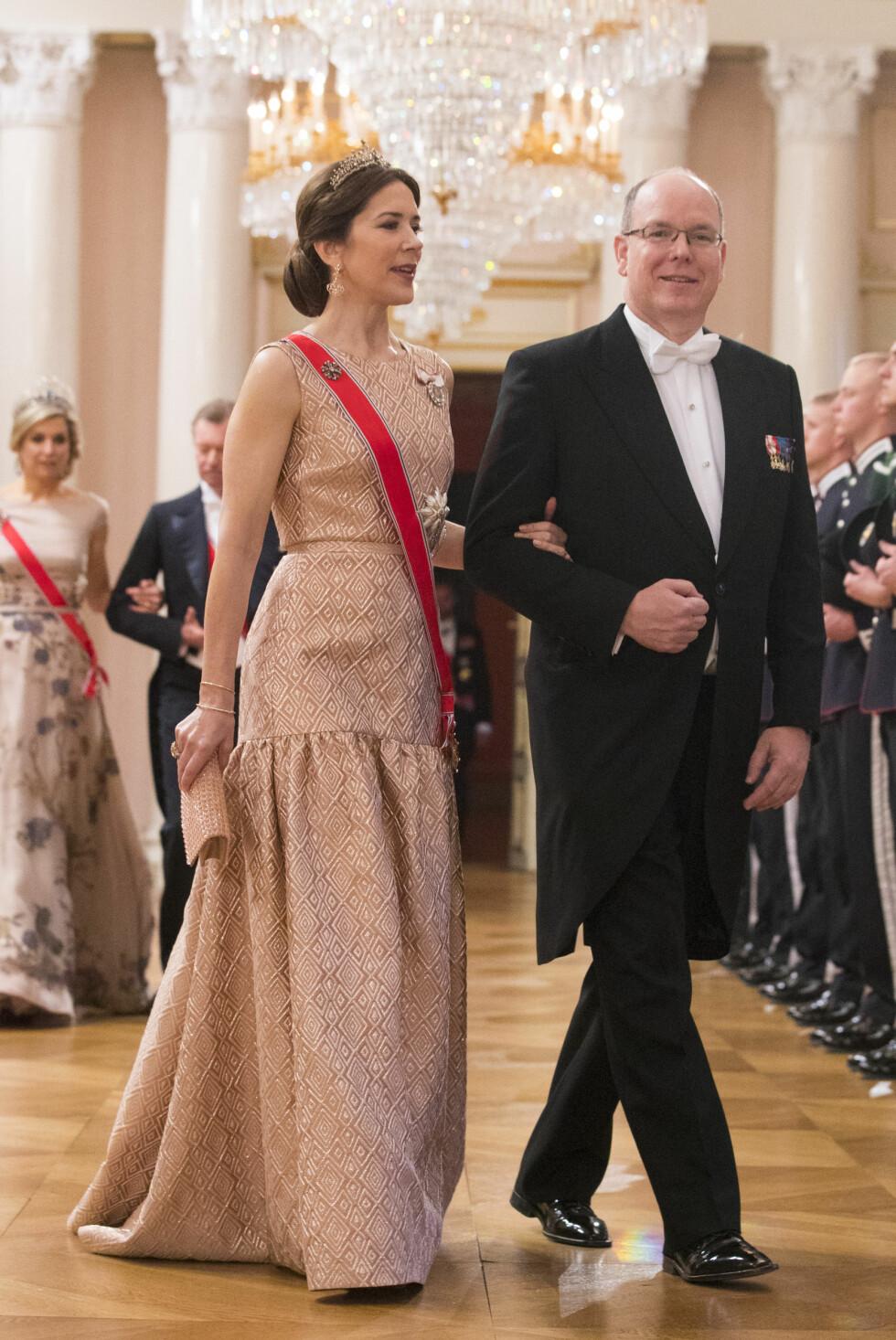 Fyrst Albert av Monaco og kronprinsesse Mary av Danmark.