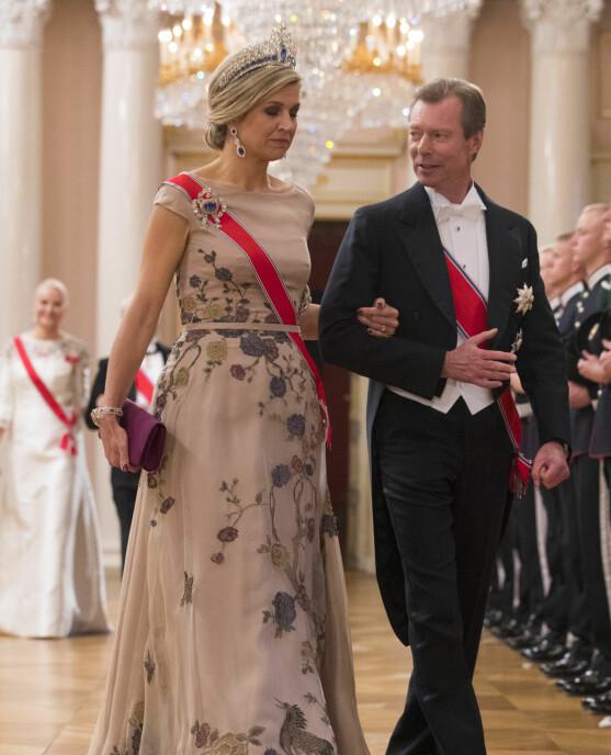 Storhertug Henri av Luxembourg og dronning Máxima av Nederland.