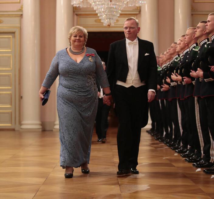 Erna Solberg og hennes mann Sindre Finnes.