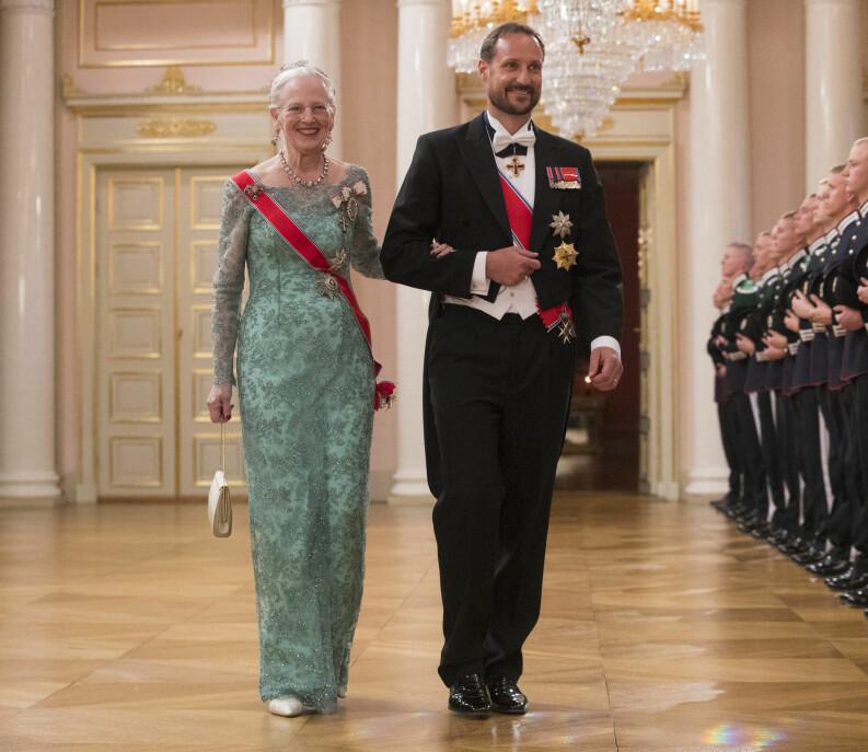 Kronprins Haakon og dronning Margrethe av Danmark.