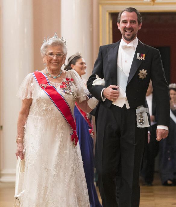 Prins Nikolaos av Hellas og prinsesse Astrid, fru Ferner.