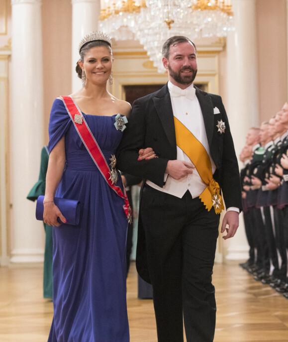 Arvestorhertug Guillaume av Luxembourg og kronprinsesse Victoria av Sverige.