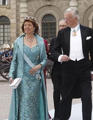 VAR GIFT: Prinsesse Désirée Friherrinne Silfverschiöld og Niclas Silfverschiöld. Foto: Lise Åserud / SCANPIX
