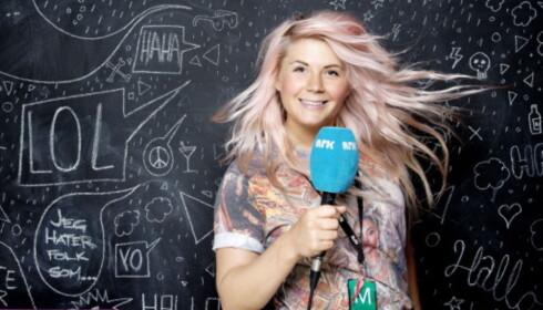 DIGGER EUROVISION: NRK-profil Line Elvsåshagen. Foto: Agnete Brun/ Dagbladet