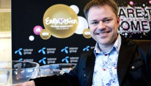 MGP-ENTUSIAST: Eurovision-blogger Anders M. Tangen i MGP-klubben. Foto: NTB scanpix