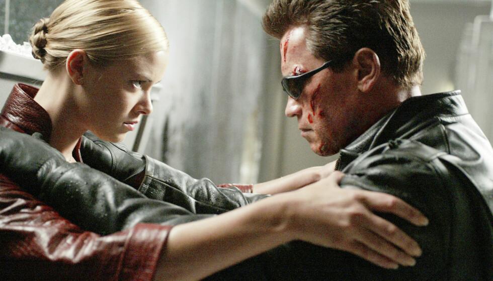 <strong>KRISTANNA JULTE OPP ARNOLD:</strong> Norskættede Kristanna banket opp selveste Arnold Schwarzenegger (69) i «Terminator 3» i 2003. Foto: Filmweb