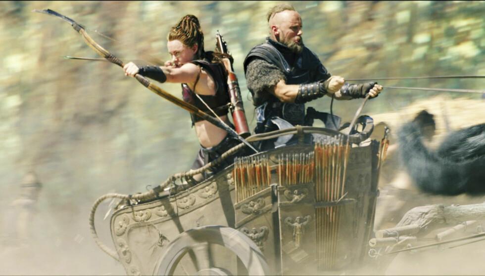 <strong>INGRID VISTE MUSKLER:</strong> Ingrid og Aksel Hennie (41) spilte sammen i storfilmen «Hercules» i 2014. Foto: Filmweb