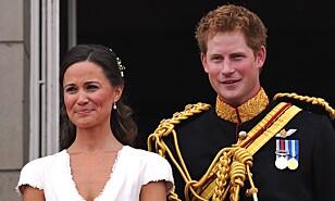 GOD KONTAKT: Prins Harry og Pippa var begge forlovere i bryllupet til prins William og hertuginne Kate i 2011. Foto: NTB Scanpix