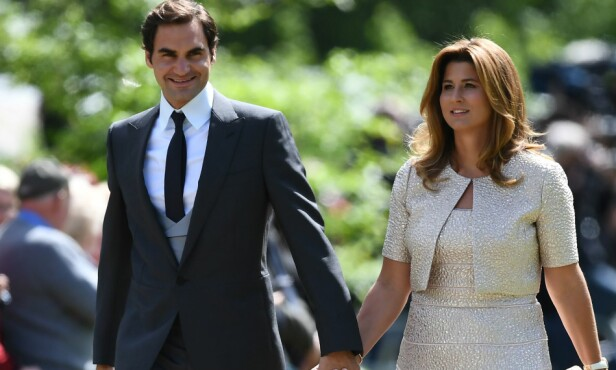 <strong>GJESTER:</strong> Tennisproffen Roger Federer og hans kone Mirka. Foto: NTB Scanpix
