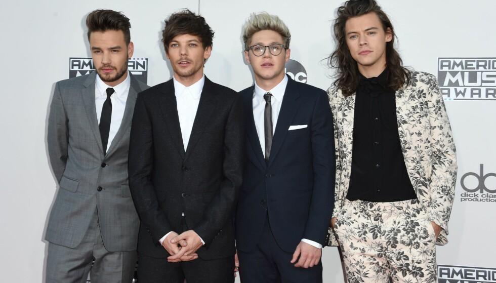 PAUSE: Det verdenskjente boybandet «One Direction» tok i 2015 pause på ubestemt tid. I ettertid har flere gått solo. På bildet ser man Liam Payne (t.v), Louis Tomlinson, Niall Horan og Harry Styles. Foto: NTB scanpix