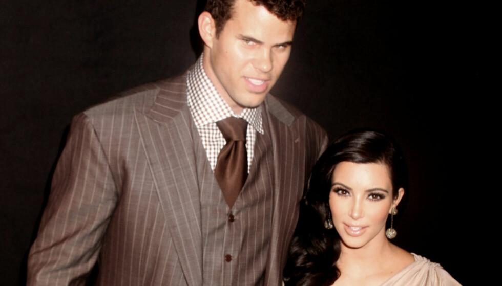 KORT EKTESKAP: Basketballspiller Kris Humphries og realitystjerna Kim Kardashian West var gift i 72 dager. Nå åpner sistnevnte opp om hvorfor hun valgte å gjennomføre bryllupet. Foto: NTB Scanpix