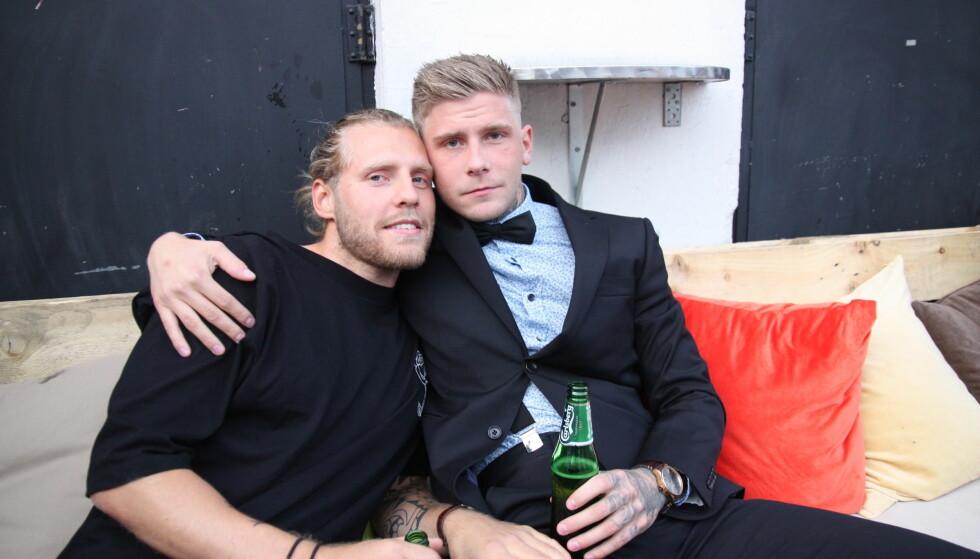<strong>FINALEFEST:</strong> Marcus Borger og Kevin René Gustavsson. Foto: Ole Johannes Ferkingstad