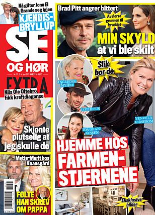 I SALG NÅ: I nyeste nummer av Se og Hør Extra kan du lese mer om John Carew. Faksimile: Se og Hør Extra
