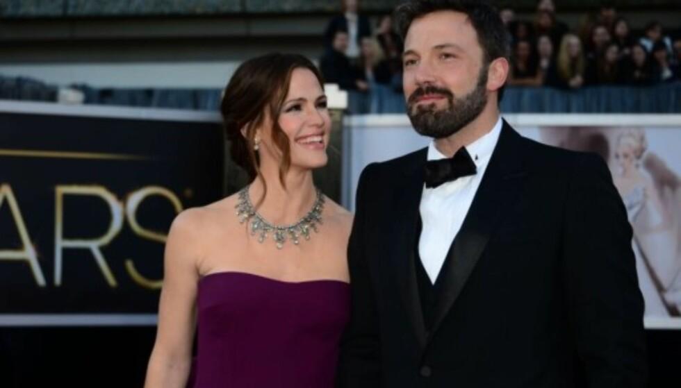 SKILLES: Ben Affleck og Jennifer Garner har offisielt sendt inn skilsmissepapirene. Foto: NTB scanpix