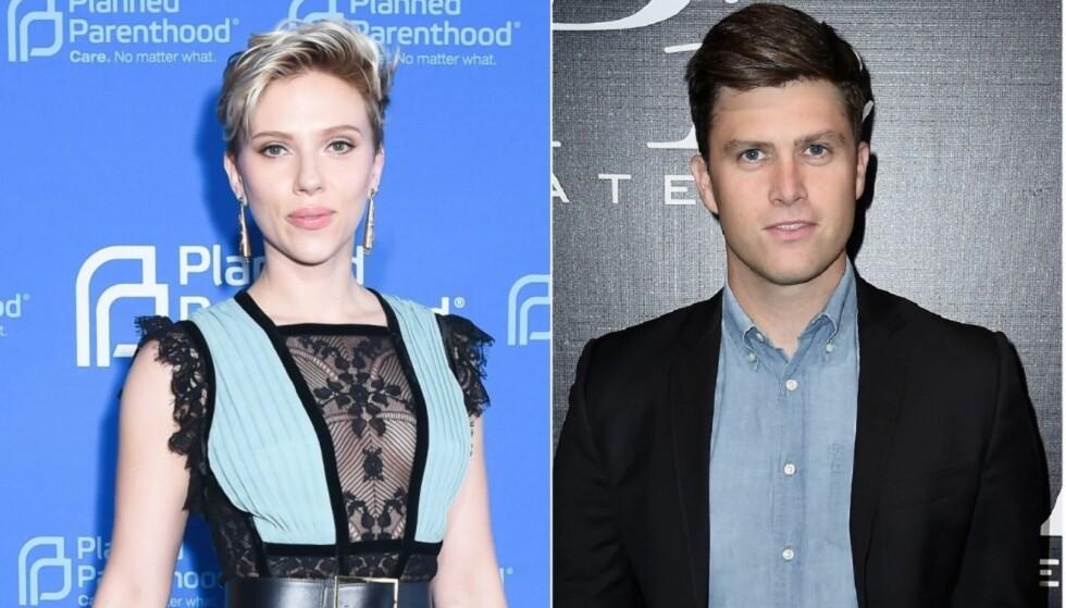 NYTT PAR? Sist måned kom nyheten om at Scarlett skal ha funnet tonen med komiker og skuespiller Colin Jost, kjent fra Saturday Night Live. Foto: NTB Scanpix