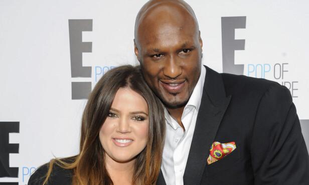 LYKKEN BRAST: Realitystjernen Khloé Kardashian og basketballspilleren Lamar Odom var gift i fire år før de gikk hver til sitt. Foto: NTB scanpix