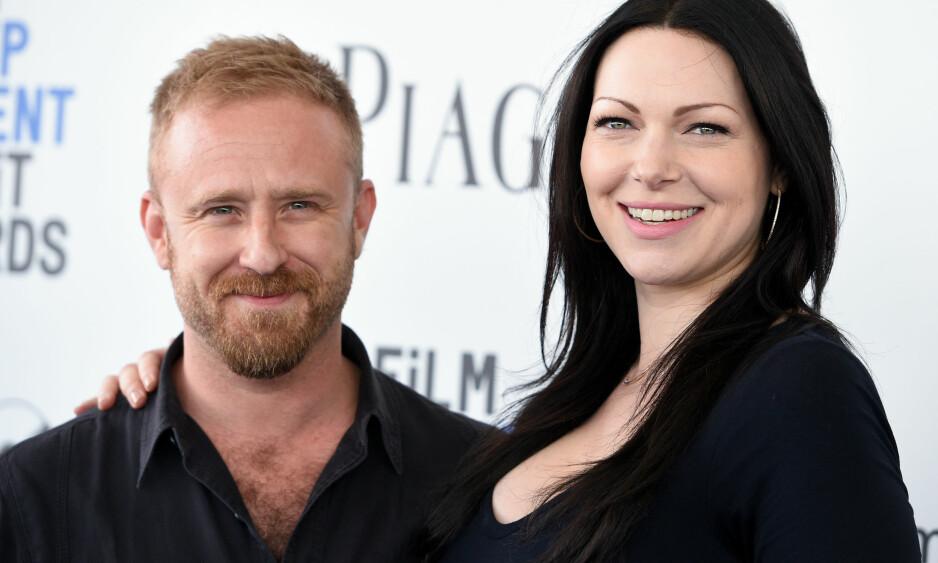 FÅR EN DATTER: Neste måned blir Laura Prepon og Ben Foster foreldre for første gang. Foto: NTB Scanpix
