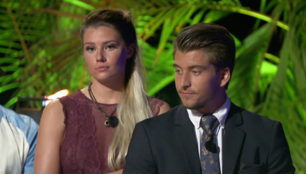 GOD STØTTE: Sofie har god støtte i Morten Botten, som hun har fått et nært forhold til etter Paradise Hotel. Foto: TV3
