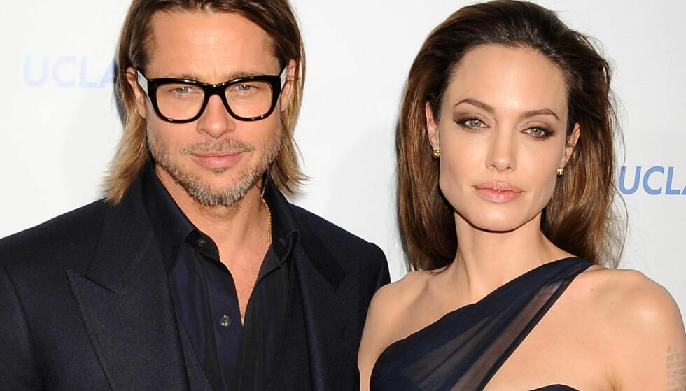 HOLLYWOODS HETESTE: Brad Pitt og Angelina Jolie var lenge et av Hollywoods definitive stjernepar. Foto: NTB scanpix