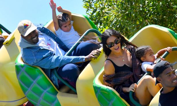 GLADE: Det er nok spente og glade tider på vei hos familien West Kardashian for tiden. Foto: NTB scanpix