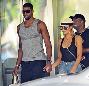 LYKKELIG: Khloé Kardashian skal være svært lykkelig med Tristan. Foto: Splash News / NTB Scanpix