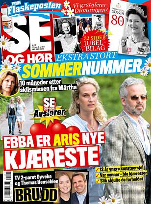 I SALG NÅ: I nyeste nummer av Se og Hør kan du lese mer om Ari Behn og hans nye kjæreste. Faksimile: Se og Hør.