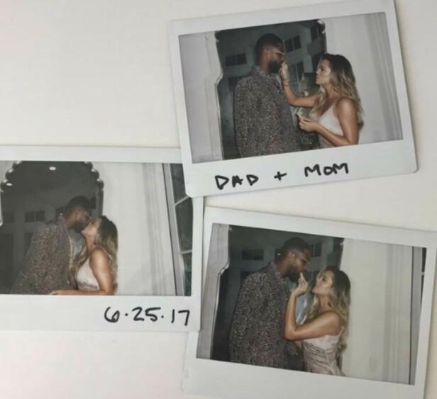 RYKTEFLOM: Etter at Khloe Kardashian delte dette bilde på sin Snapchat-story har ryktene svirret om realitystjernen kanskje er gravid. Foto: Skjermdump fra Snapchat
