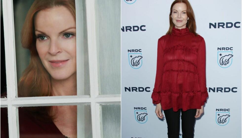<strong>FØR/NÅ:</strong> Marcia Cross spilte rollen som Bree Van De Kamp i «Frustrerte Fruer» (t.v). Slik ser hun ut i dag. Foto: TV 2 / NTB scanpix