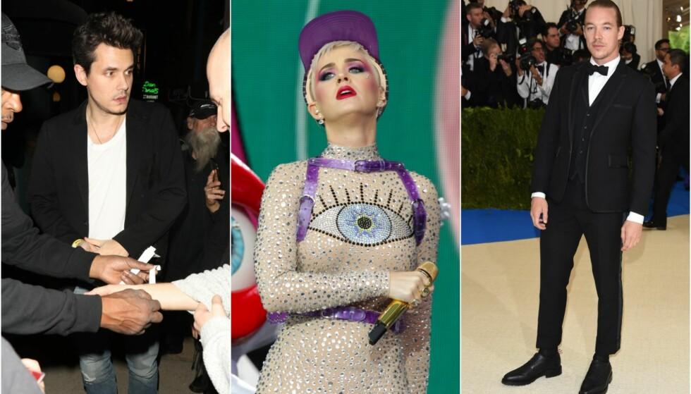 «ELSKOVSLISTE»: To av Katy Perrys ekser har kommentert Katys mye omtalte «elskovsliste». Foto: NTB scanpix