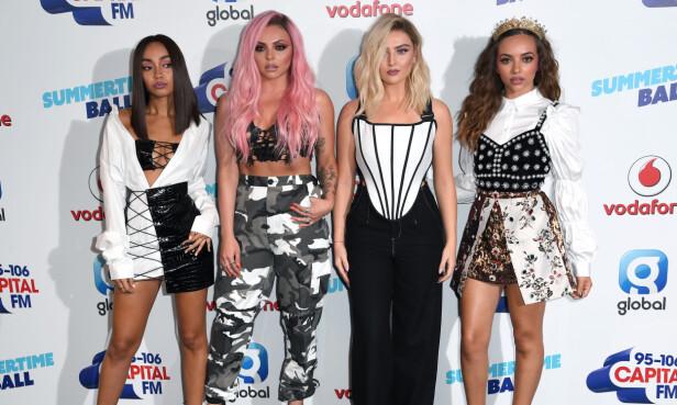 POPSTJERNER: Gruppen Little Mix består av Perrie Edwards, Jesy Nelson, Jade Thirlwall og Leigh-Anne Pinnock. Foto: Scanpix