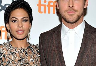 Ryan Gosling og Eva Mendes viste frem døtrene