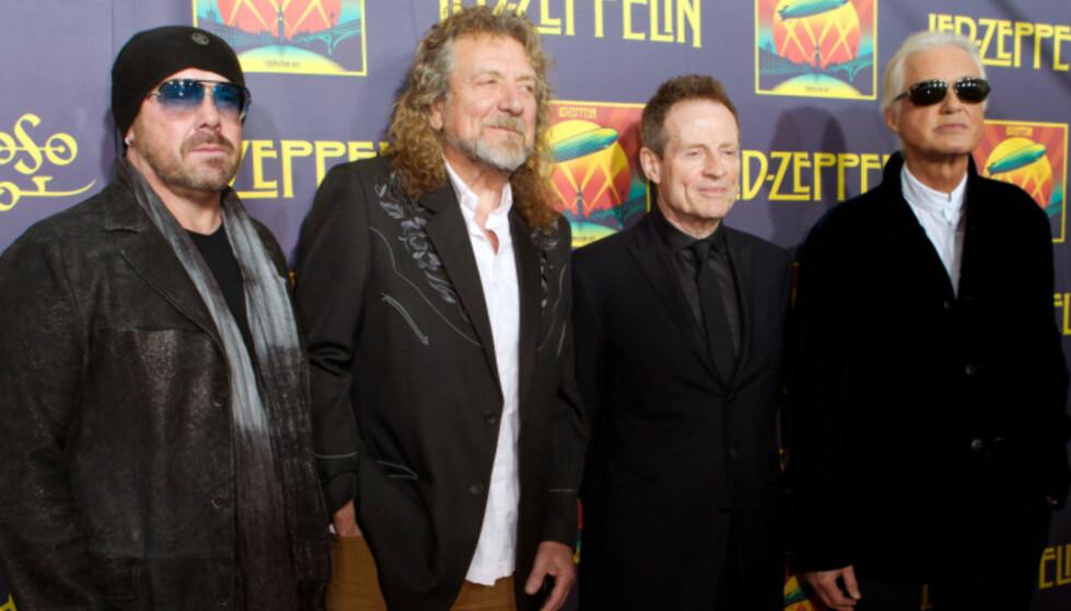 «JÆVLA BRYLLUPSSANG»: Bandet Led Zeppelin vil ikke spille deres mest populære sang igjen. Foto: NTB Scanpix