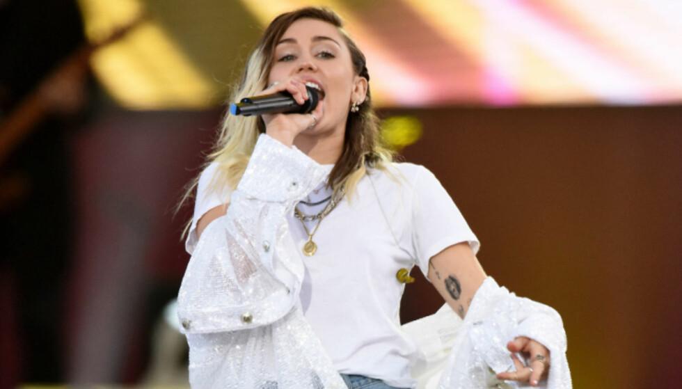 SKREV IKKE SANGEN SELV: Miley Cyrus. Foto: NTB Scanpix