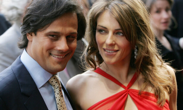EKS-MANNEN: I ni år var Liz sammen med den indiske tekstil-arvingen Arun Nayar. Fra 2007 til 2011 var de også gift. Her på Billy Elliot-premieren i London i 2005. Foto: NTB Scanpix
