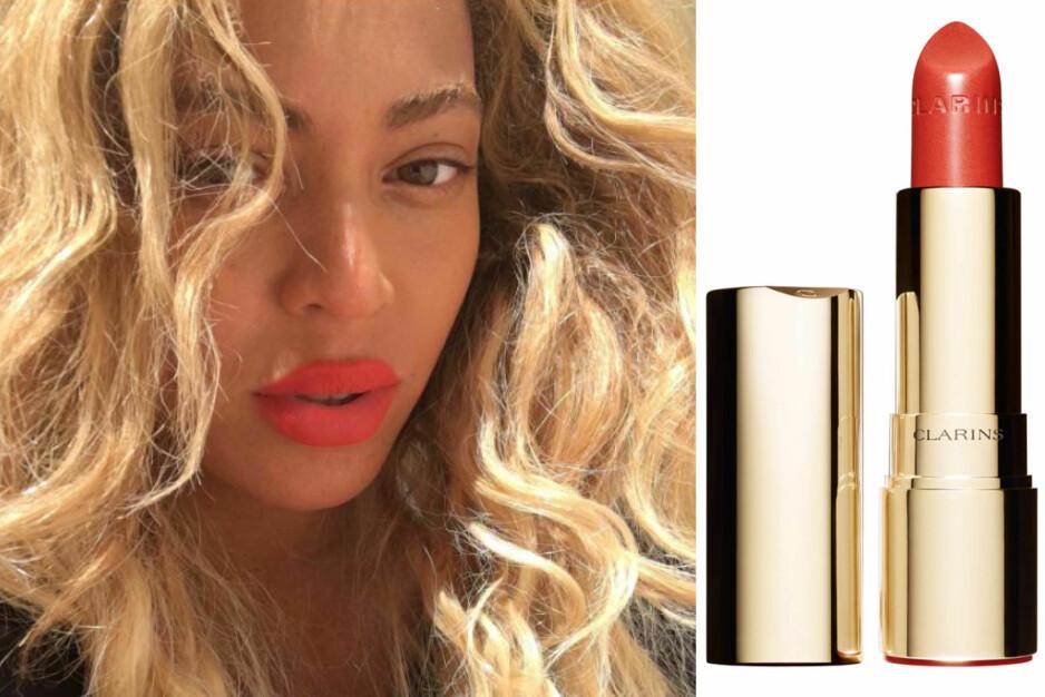 Vi elsker Beyonces leppestift! Foto: Instagram @beyonce